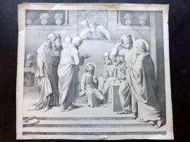 J. C. Koch after Johann Friedrich Overbeck C1840 LG Print. Religious Scene